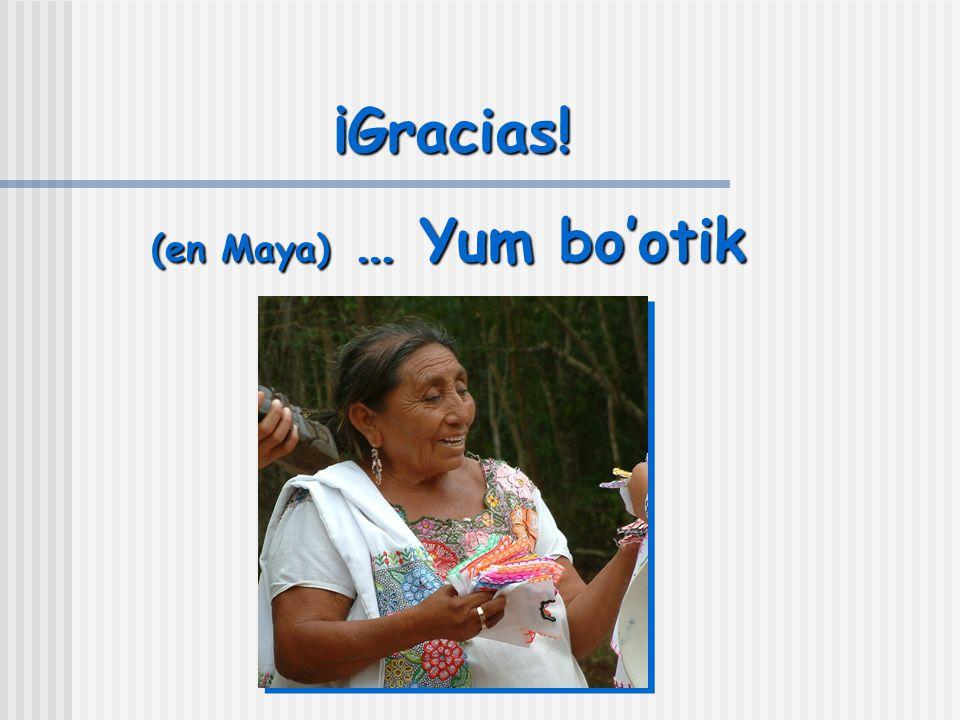 ¡Gracias! (en Maya) … Yum bo'otik