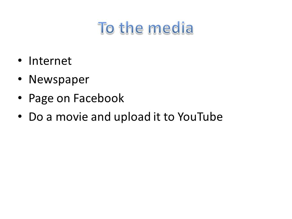 Internet Newspaper Page on Facebook Do a movie and upload it to YouTube