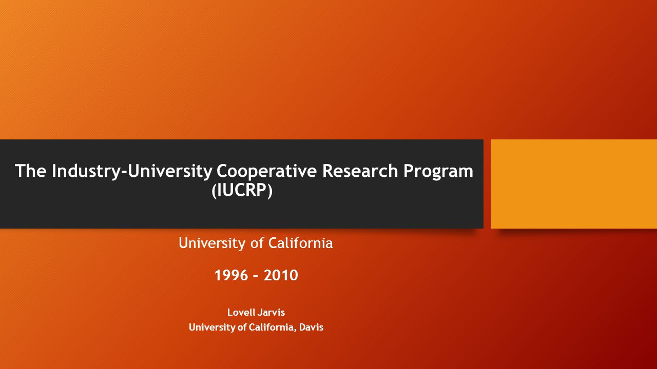 Introduction The University of California (UC) has long recognized the value of encouraging and facilitating the development of intellectual property by its faculty, staff and students.