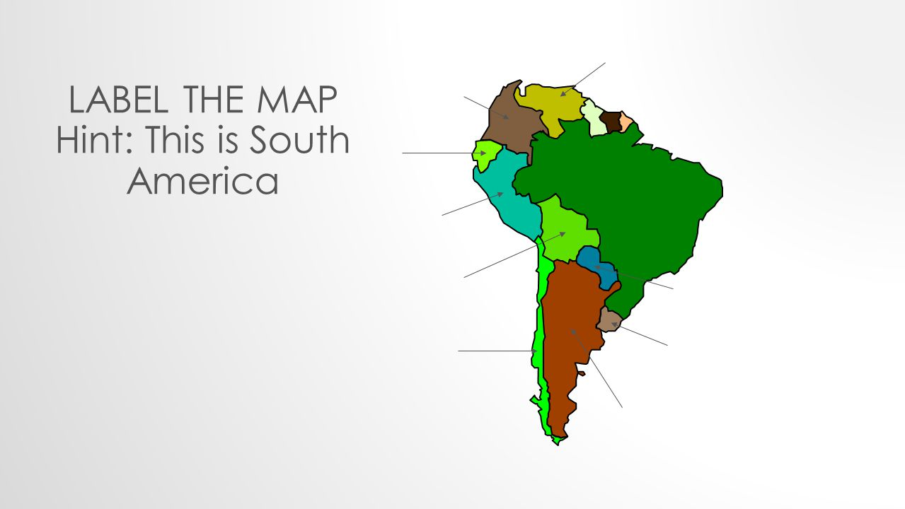 1 HACER HAORA Label the map Hint: This is North and Central America