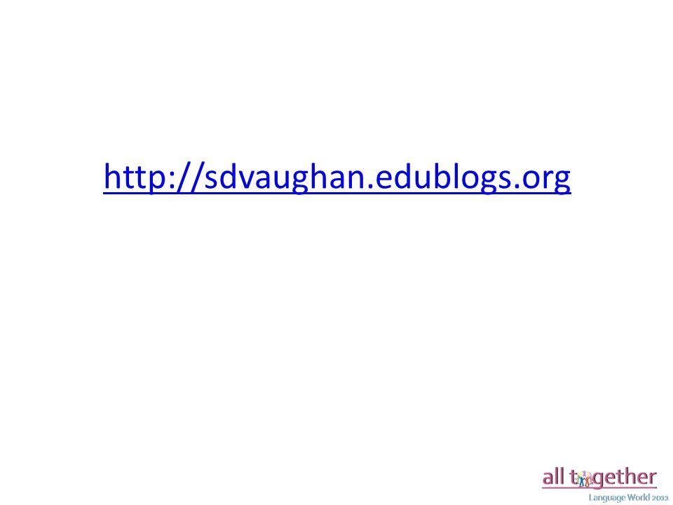 http://sdvaughan.edublogs.org