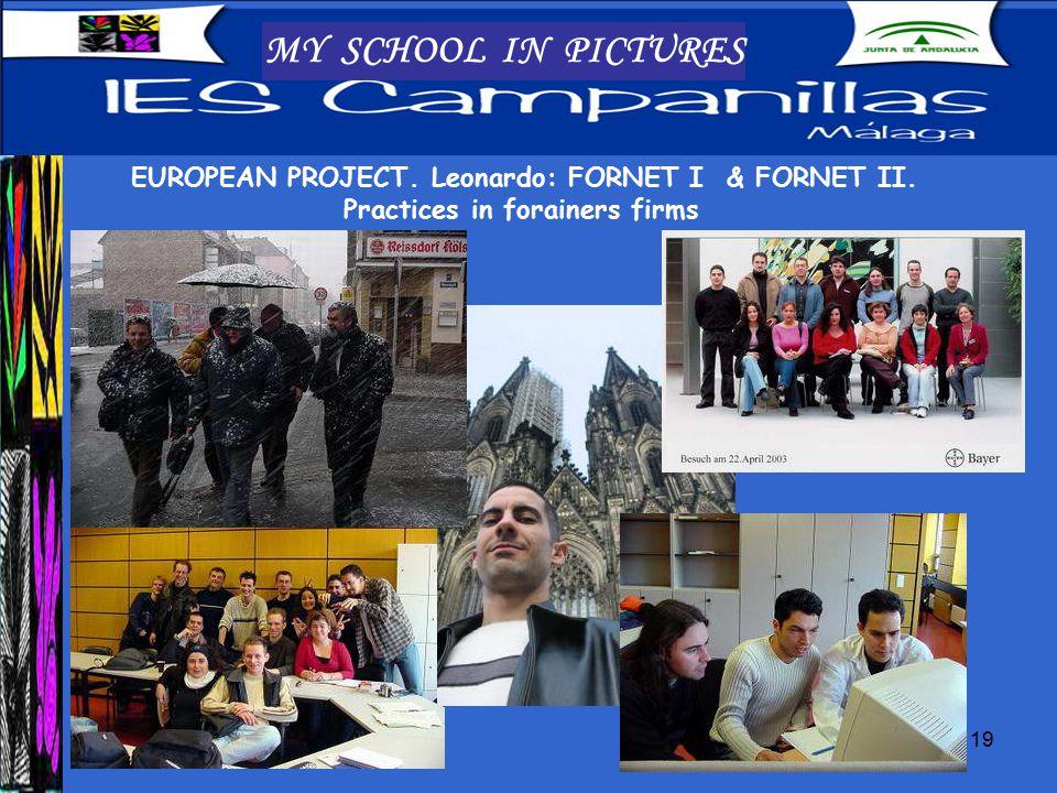 19 MY SCHOOL IN PICTURES EUROPEAN PROJECT. Leonardo: FORNET I & FORNET II.