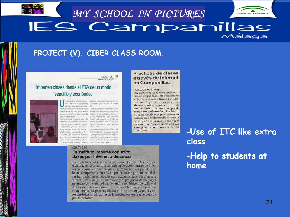 24 MY SCHOOL IN PICTURES PROJECT (V). CIBER CLASS ROOM.
