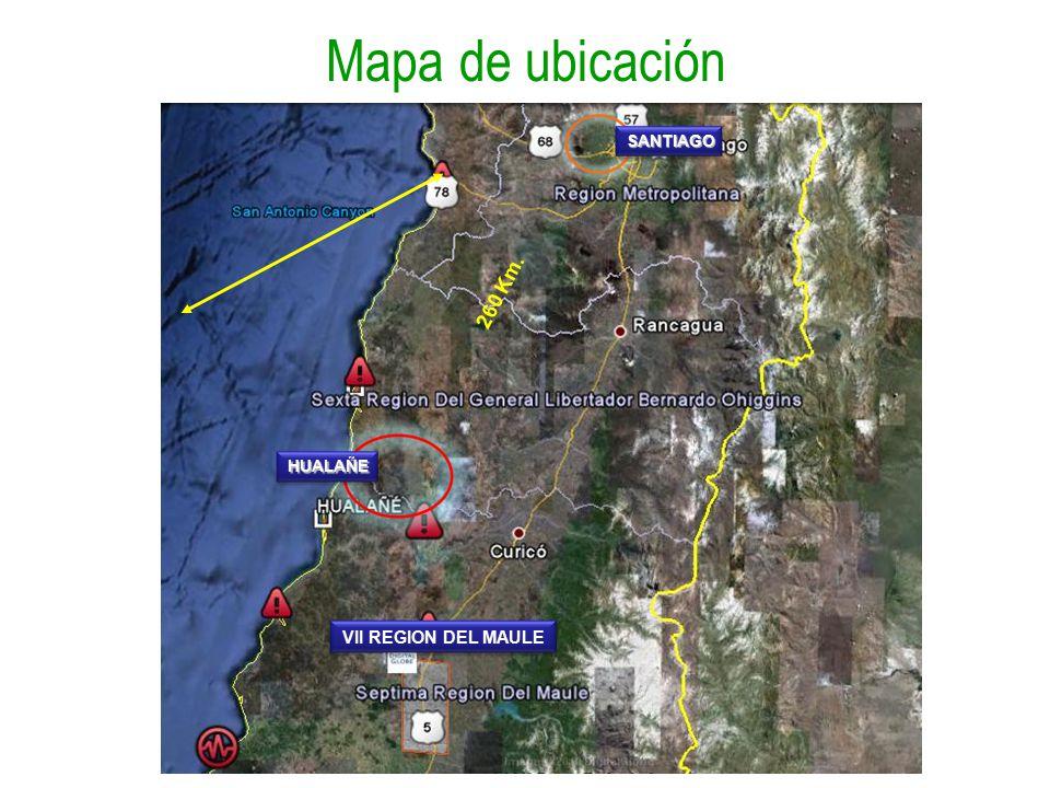 Mapa de ubicación 260 Km. SANTIAGO HUALAÑE VII REGION DEL MAULE
