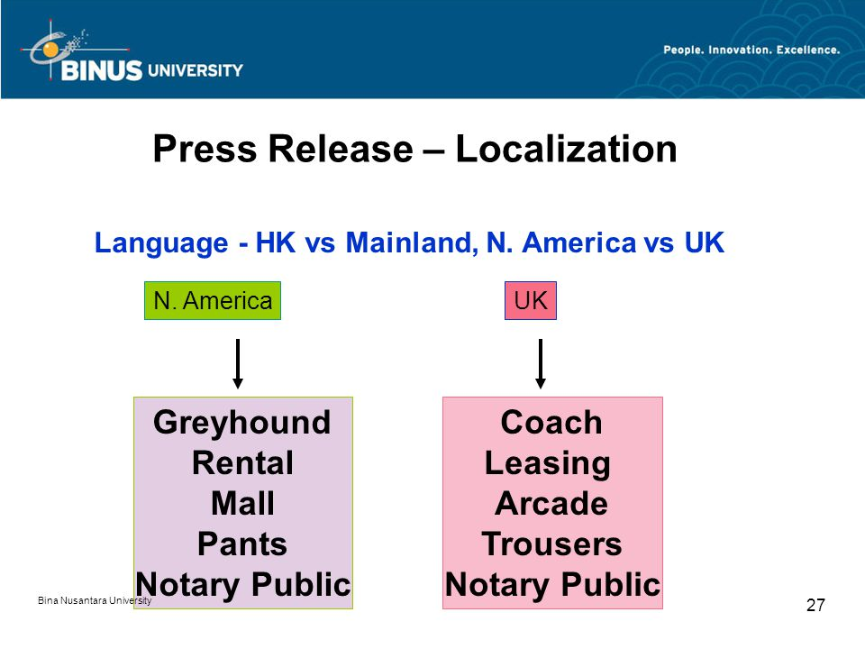Press Release – Localization Language - HK vs Mainland, N.