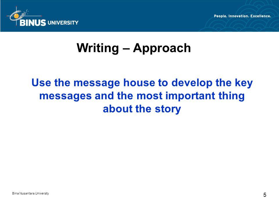 Writing – Format Text boilerplate Additional Information Contact Bina Nusantara University 16