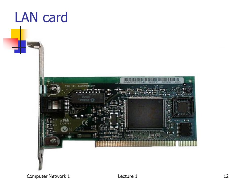 Computer Network 1Lecture 112 LAN card