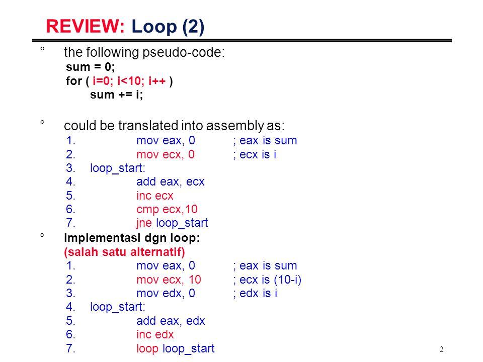 13 Passing References via Registers _main: mov eax,AVEC mov ebx,BVEC mov ecx,CVEC mov esi,[Scale] call _v_add_scale...