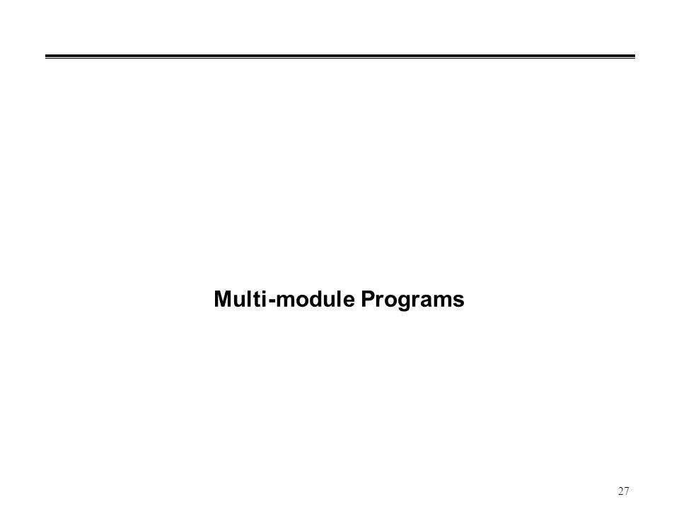 27 Multi-module Programs