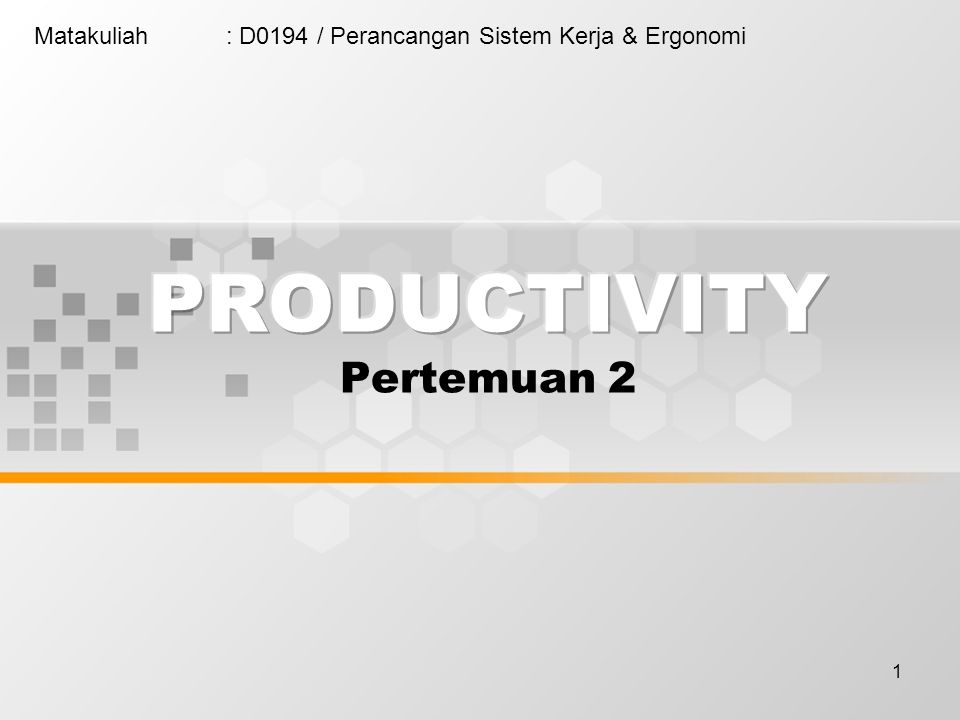 2 (Source : Kolarik in Creating Quality) Productivity is concerned with the efficient utilization of resources (input provided) in producing goods or services (output generated) Productivity Ratio = Output produced per a given time period Resource(s) consumed in production per a given time period