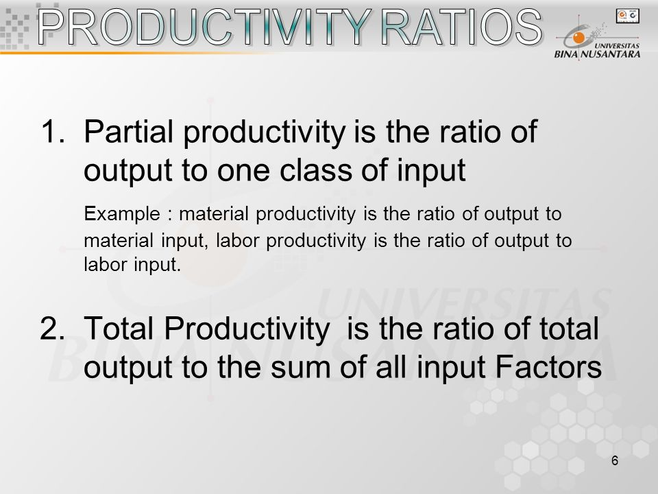 7 E = 100 x HeHc E = Percent Efficiency He = Standard Hours Earned Hc = Clock Hours on Job Example : The standard time for an operator is 11.46 minutes per piece.