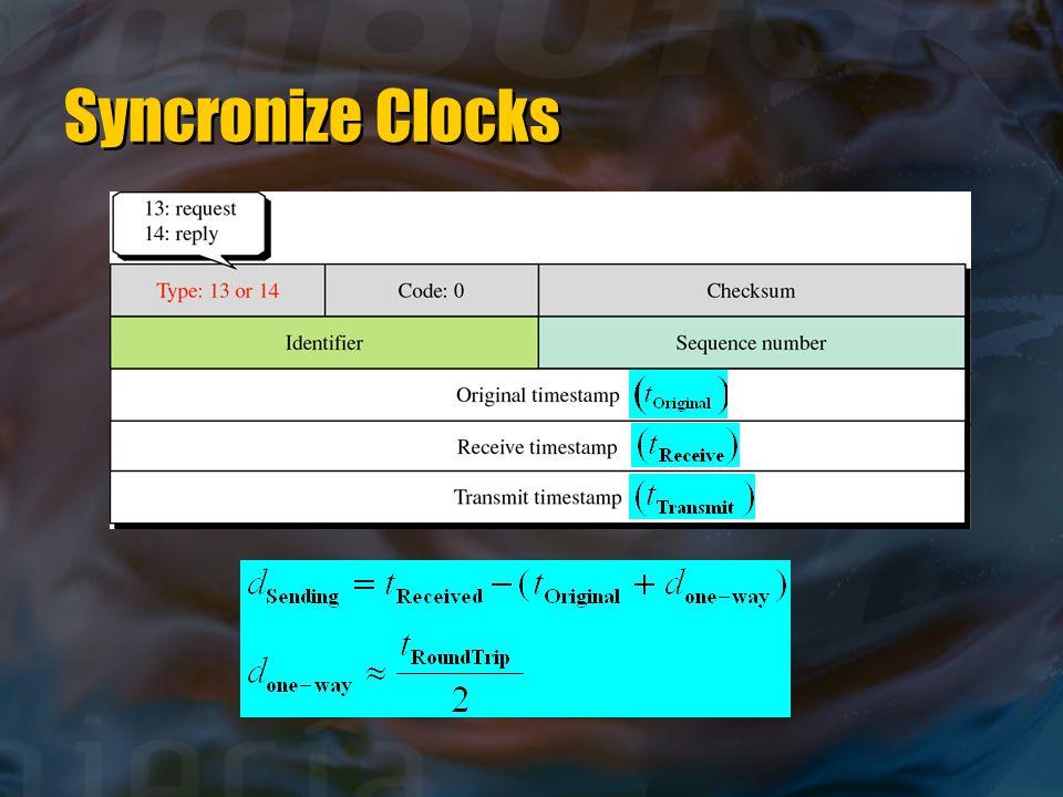 Syncronize Clocks