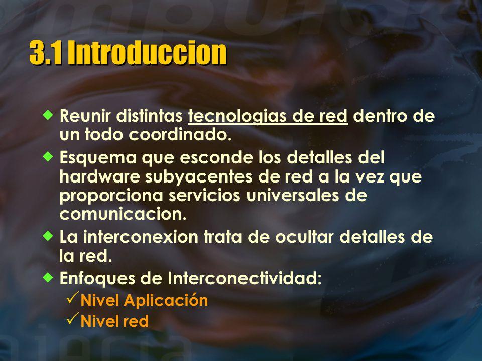 3.1 Introduccion  Reunir distintas tecnologias de red dentro de un todo coordinado.