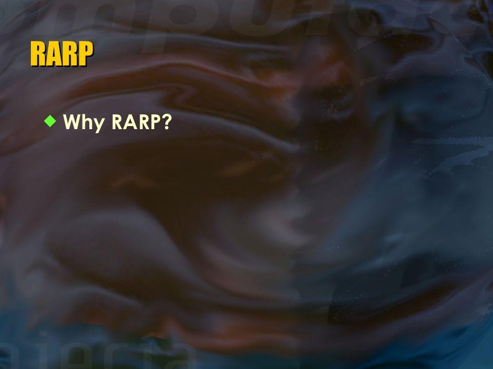 RARP  Why RARP?