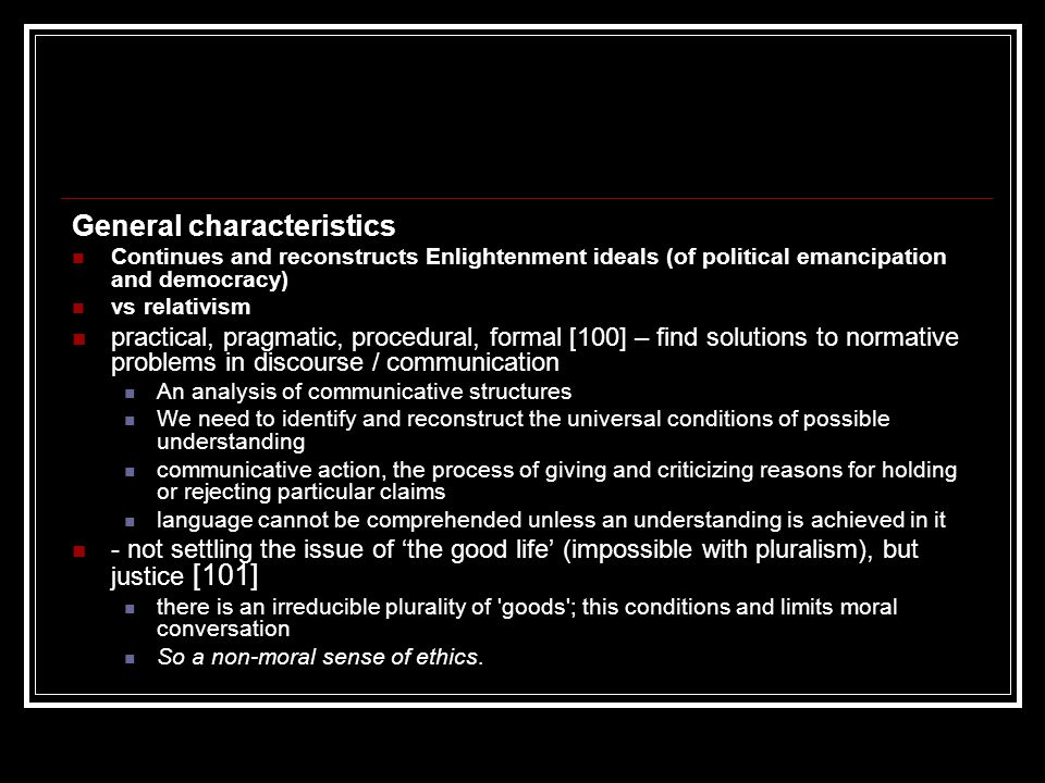 General characteristics What do we have.