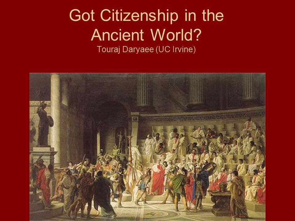 Citizenship Important Factors in discussing Citizenship 1.