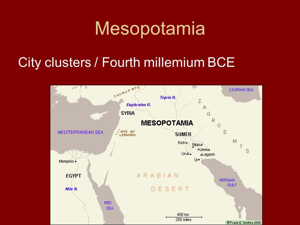 Mesopotamia City clusters / Fourth millemium BCE