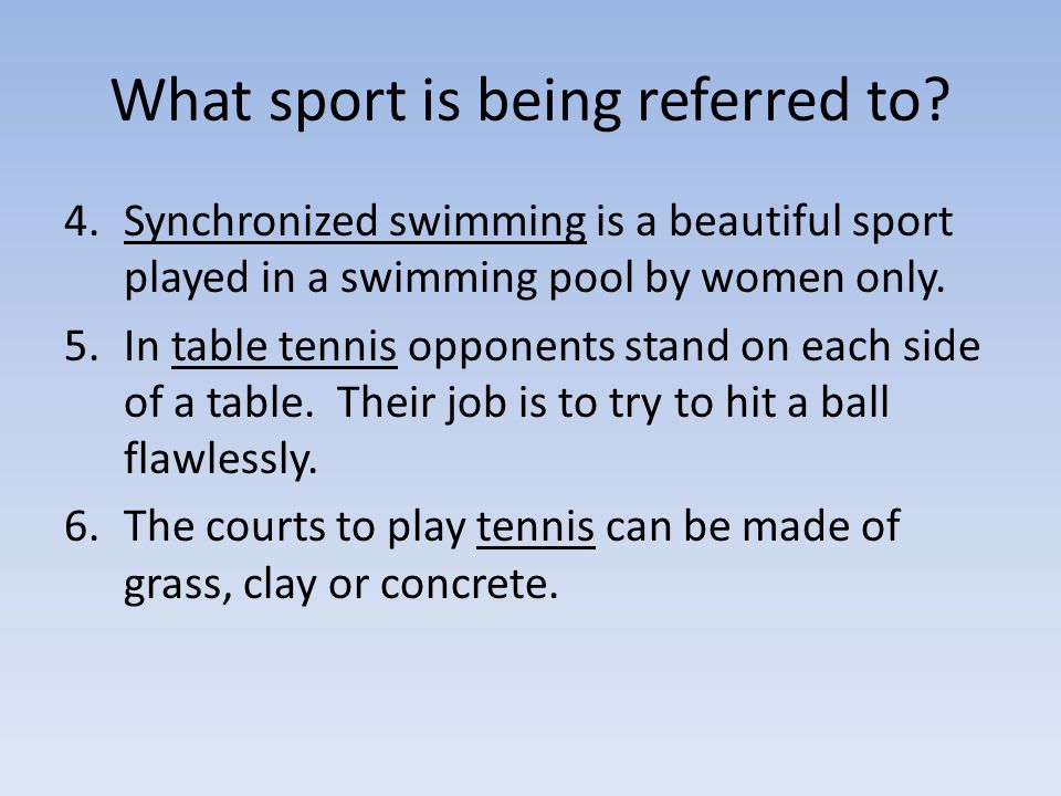 What sport is being referred to.