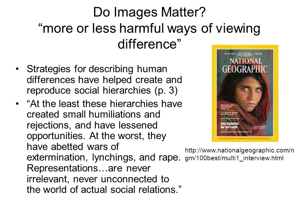 Do Images Matter.