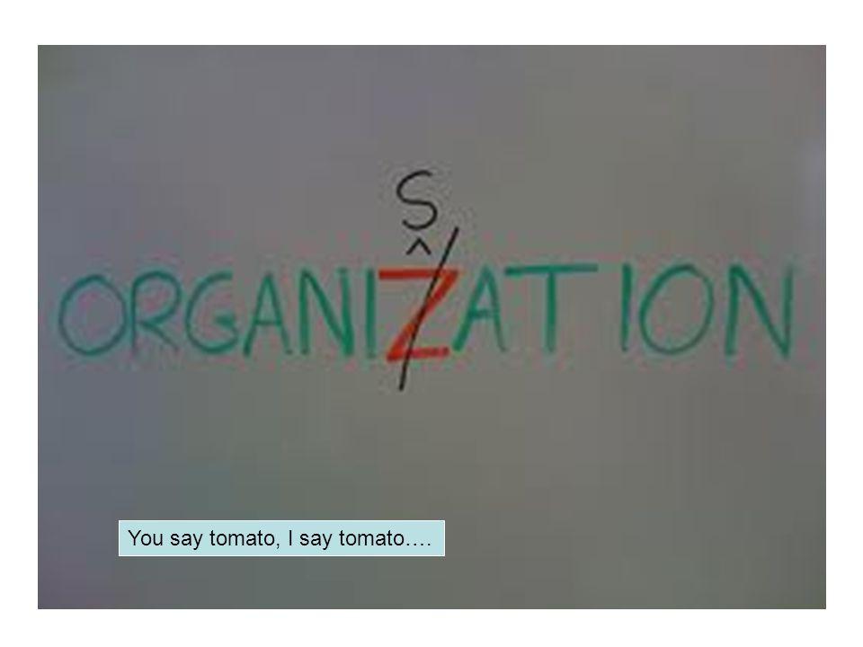 You say tomato, I say tomato….