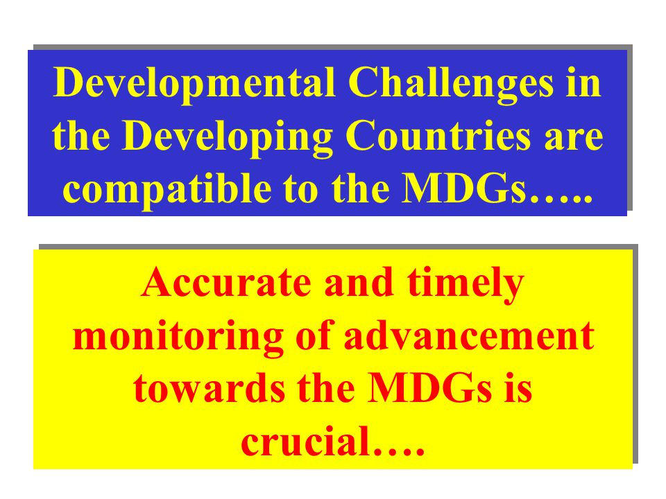 Developmental Challenges in the Developing Countries are compatible to the MDGs…..