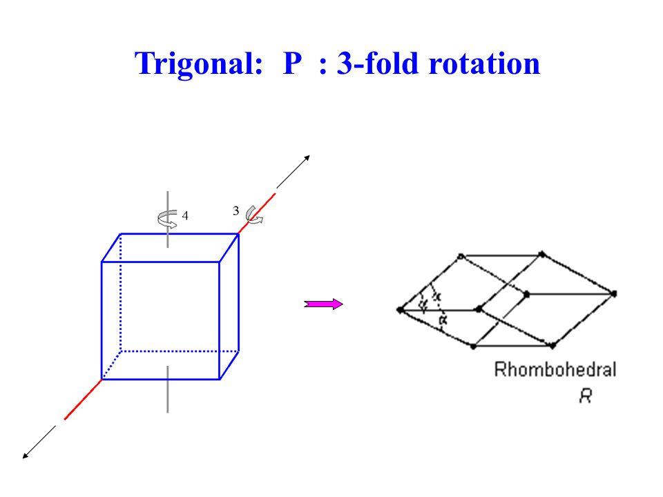 Trigonal: P : 3-fold rotation