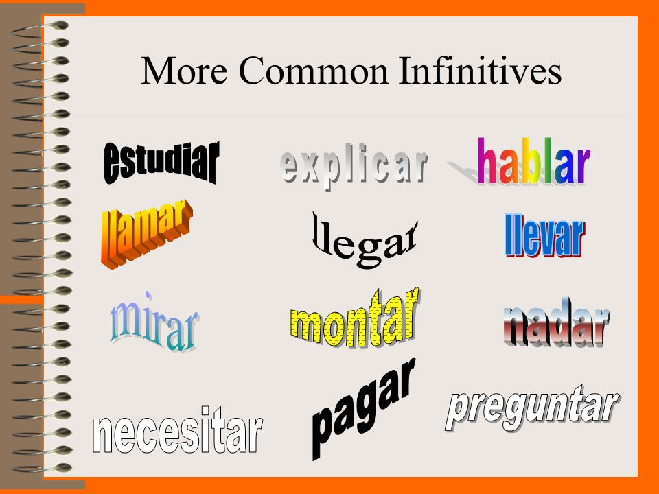More Common Infinitives