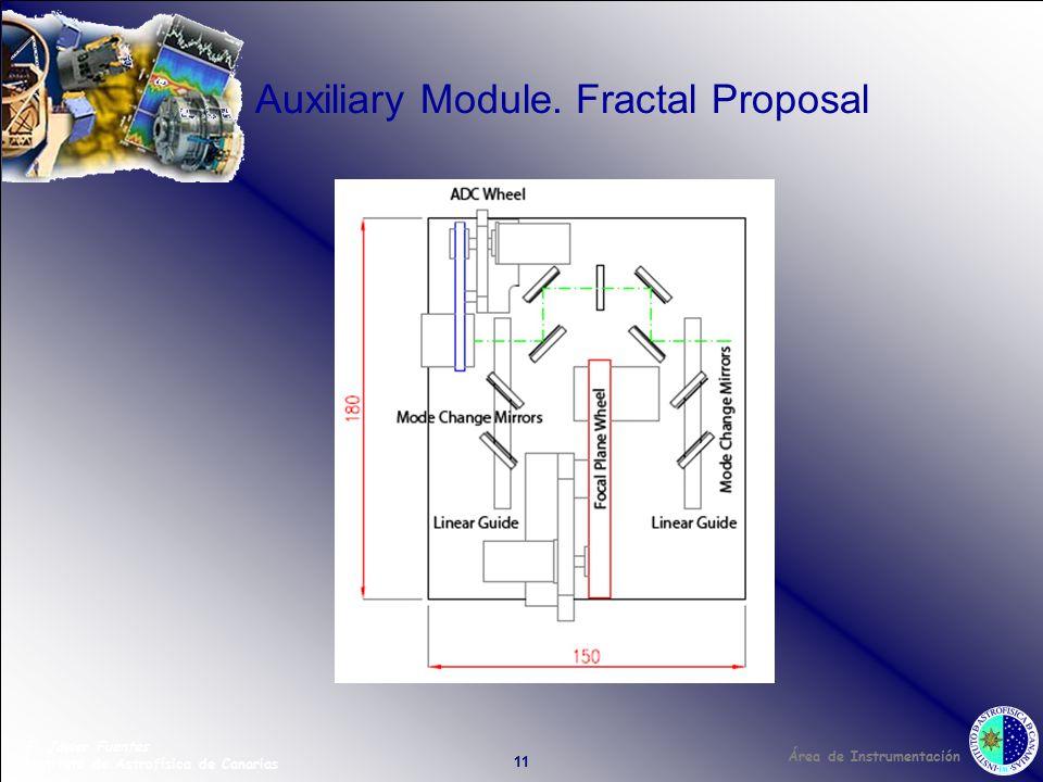 Área de Instrumentación F. Javier Fuentes Instituto de Astrofísica de Canarias 11 Auxiliary Module.
