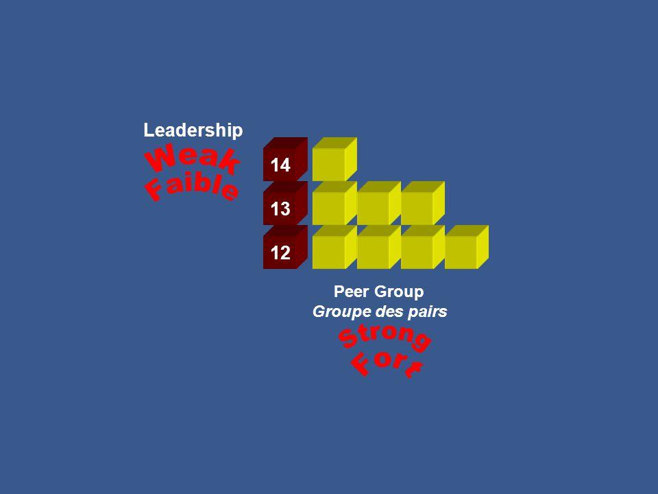 Leadership Peer Group Groupe des pairs 12 13 14