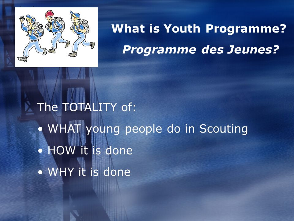 What is Youth Programme. Programme des Jeunes.