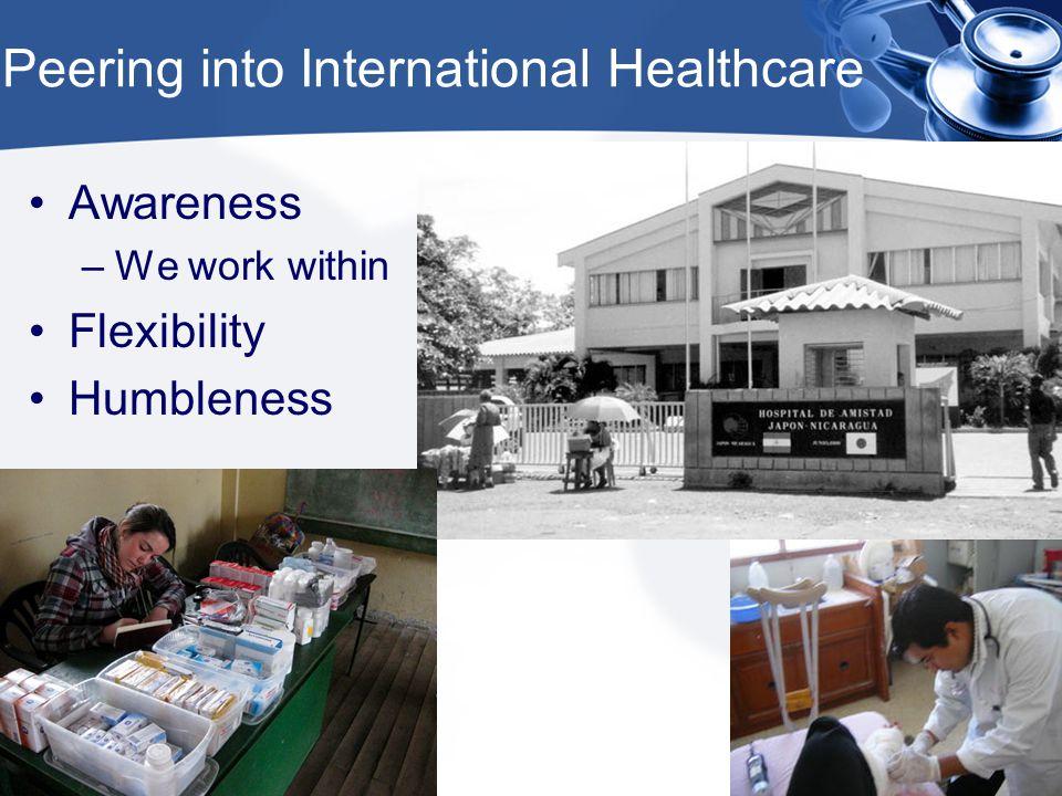 Peering into International Healthcare Awareness –We work within Flexibility Humbleness