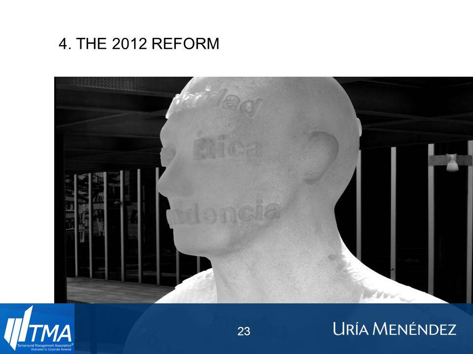 4. THE 2012 REFORM 23