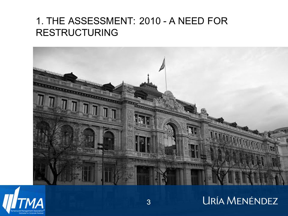 1. THE ASSESSMENT: 2010 - A NEED FOR RESTRUCTURING 3