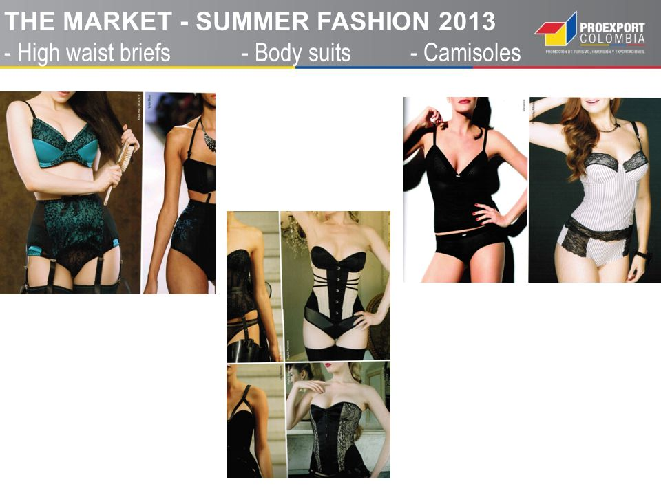 THE MARKET - SUMMER FASHION 2013 - High waist briefs - Body suits - Camisoles