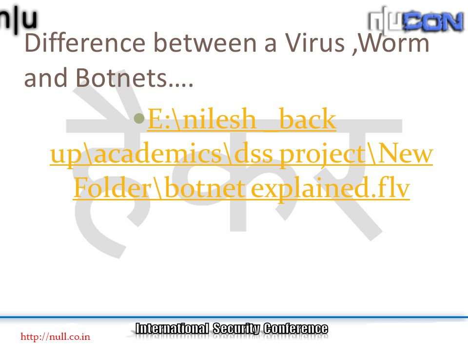Difference between a Virus,Worm and Botnets….