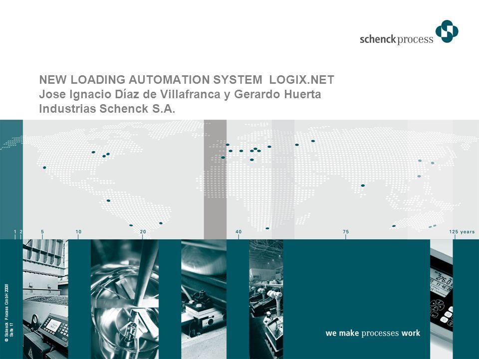 © Schenck Process GmbH 2006 Seite 17 NEW LOADING AUTOMATION SYSTEM LOGIX.NET Jose Ignacio Díaz de Villafranca y Gerardo Huerta Industrias Schenck S.A.