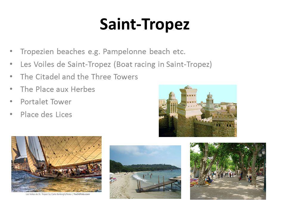 Saint-Tropez Tropezien beaches e.g. Pampelonne beach etc.