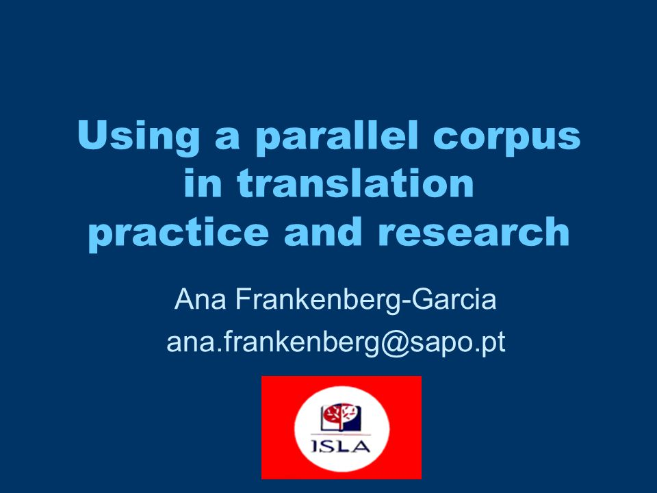 Machine Translation Using machines to analyse Human Translation