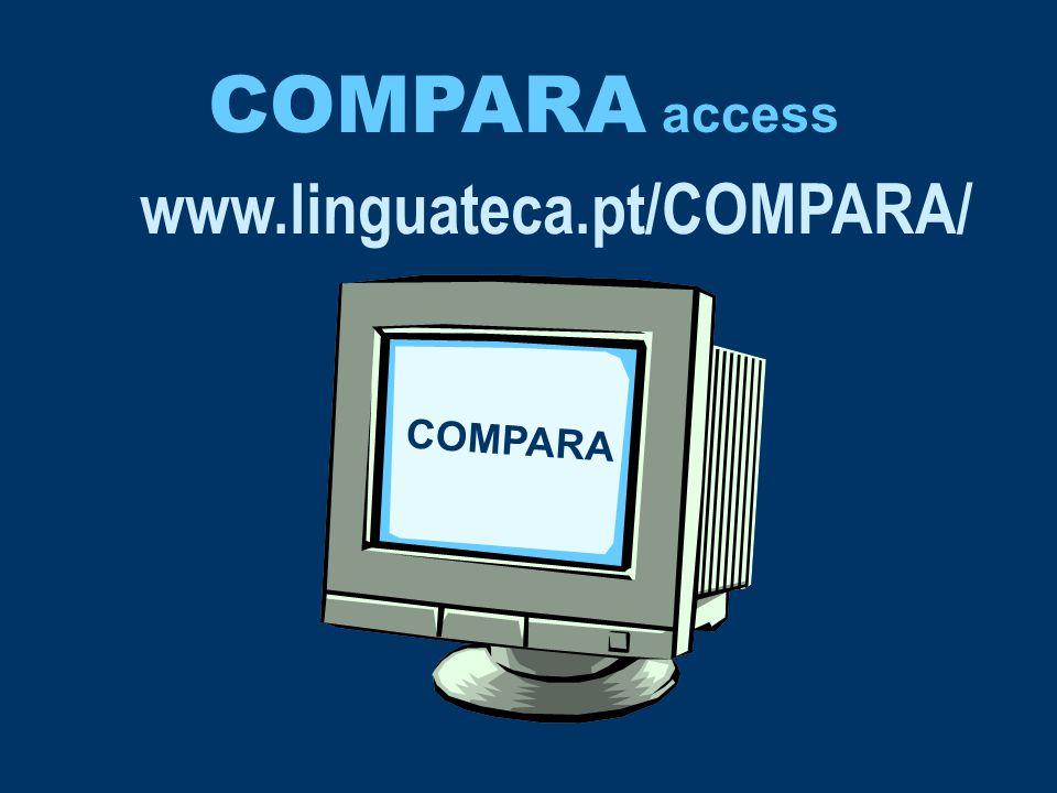 www.linguateca.pt/COMPARA/ COMPARA access COMPARA