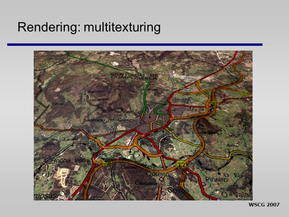 WSCG 2007 Rendering: multitexturing