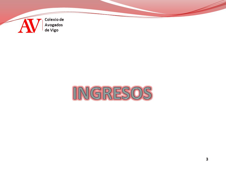 AV Colexio de Avogados de Vigo PRESUPUESTO 2015 - INGRESOS 01 - INCORPORACIONES CUOTAS 02 - CUOTAS ORDINARIAS736.133,98 21.000,00 EJERCIENTES RESIDENTES NO EJERCIENTES EJERCIENTES NO RESIDENTES LETRADOS INSCRITOS CUOTAS C.G.A.E.