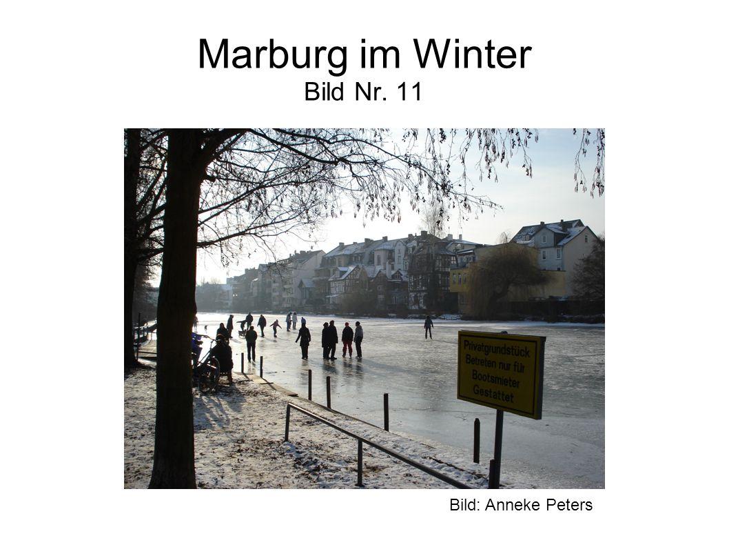 Marburg im Winter Bild Nr. 11 Bild: Anneke Peters
