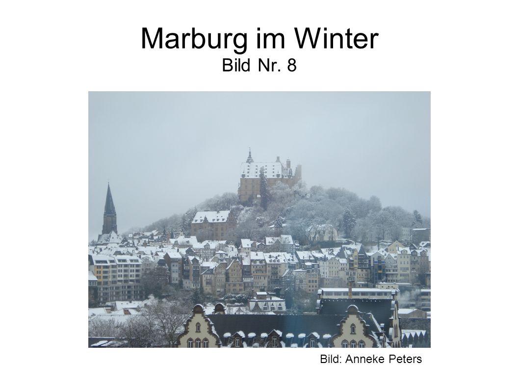Marburg im Winter Bild Nr. 8 Bild: Anneke Peters