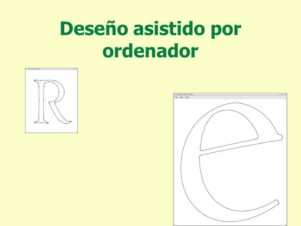 Deseño asistido por ordenador Curvas que permiten pasar suavemente dunha recta a unha circunferencia.