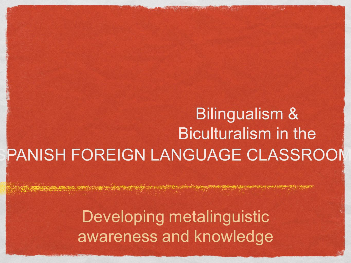 Developing metalinguistics