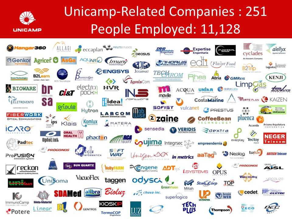 Unicamp-Related Companies : 251 People Employed: 11,128
