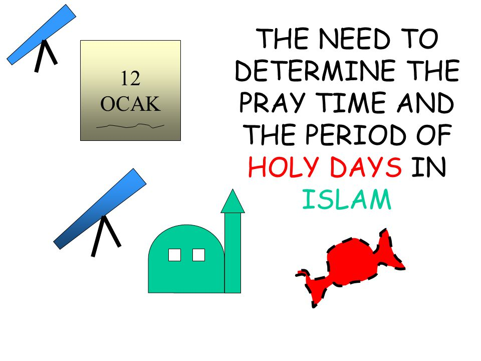THE NEED TO DETERMINE THE PRAY TIME AND THE PERIOD OF HOLY DAYS IN ISLAM 12 OCAK