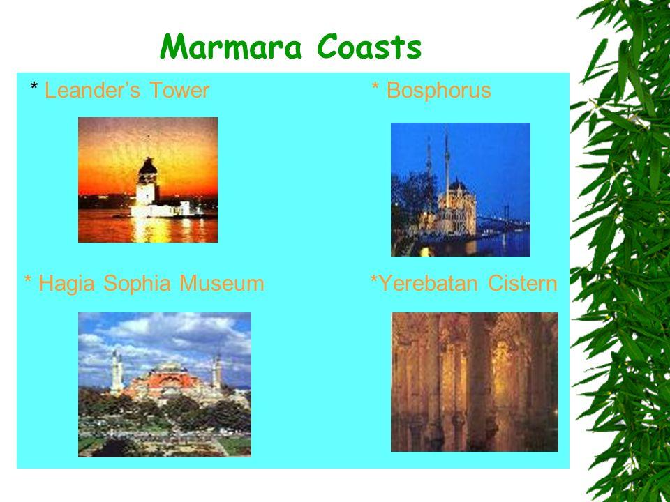 Marmara Coasts * Leander's Tower * Bosphorus * Hagia Sophia Museum *Yerebatan Cistern