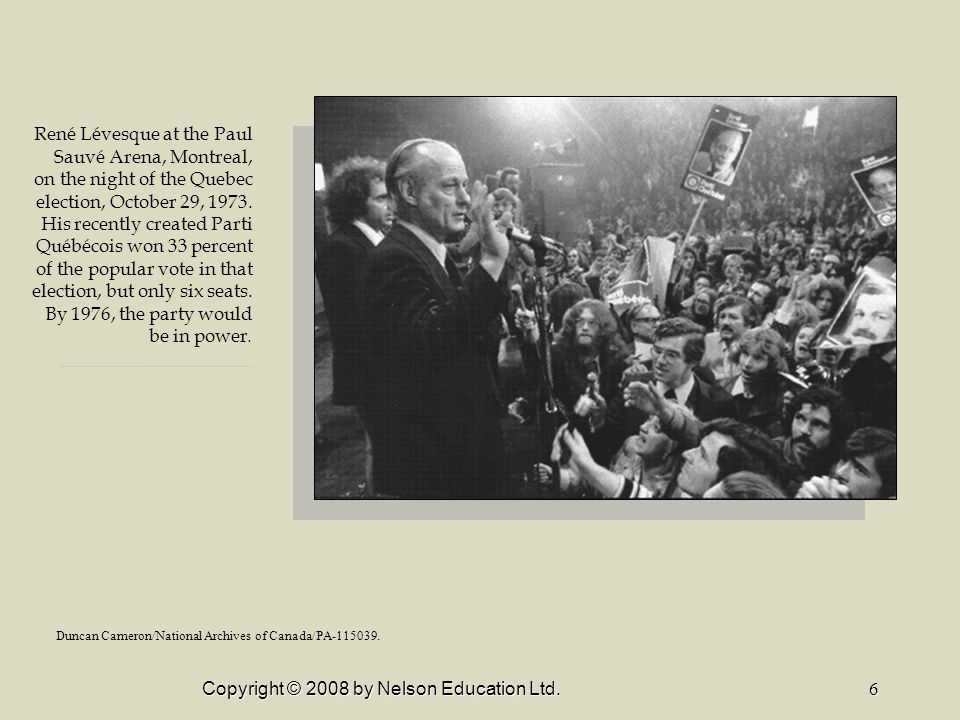 Copyright © 2008 by Nelson Education Ltd.7 The Quebec referendum ballot, May 20, 1980.