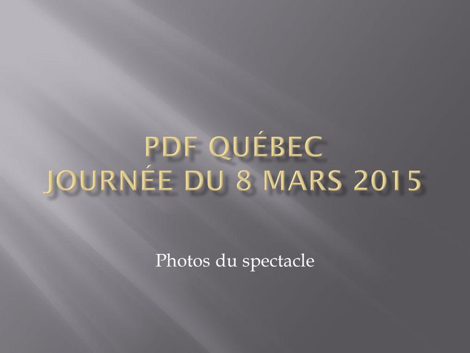 PDF Québec, journée du 8 mars 2015 Photos du spectacle Jean-Paul Lahaie